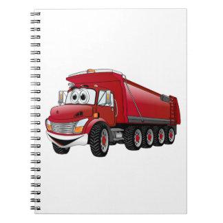 Dibujo animado rojo del camión volquete 10w note book