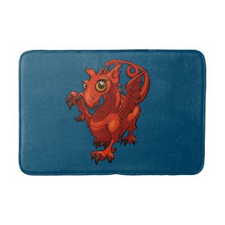Dibujo animado rojo del dragón del pequeño bebé