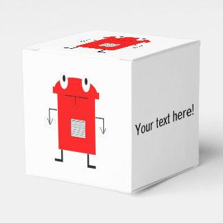 Dibujo animado rojo del robot cajas para regalos de fiestas