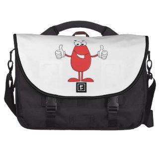 Dibujo animado rojo divertido bolsa de ordenador