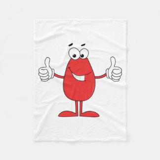 Dibujo animado rojo divertido