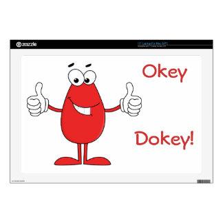 Dibujo animado rojo divertido portátil calcomanía