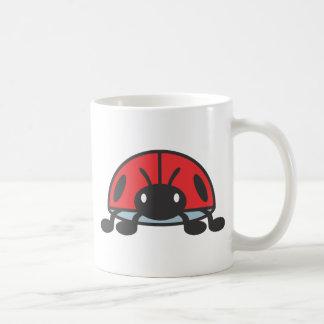 Dibujo animado rojo fresco de la mariquita taza de café