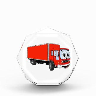 Dibujo animado rojo grande del camión de reparto