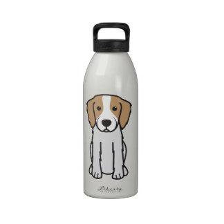 Dibujo animado rojo y blanco irlandés del perro de botella de beber