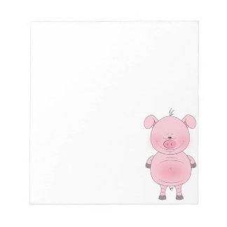 Dibujo animado rosado alegre del cerdo blocs
