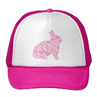 Dibujo animado rosado lindo de los corazones del c gorra