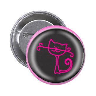 dibujo animado rosado lindo del gato 3D Pin
