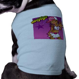 Dibujo animado rosado y púrpura del golpeador camiseta sin mangas para perro