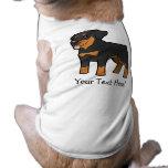 Dibujo animado Rottweiler Playera Sin Mangas Para Perro