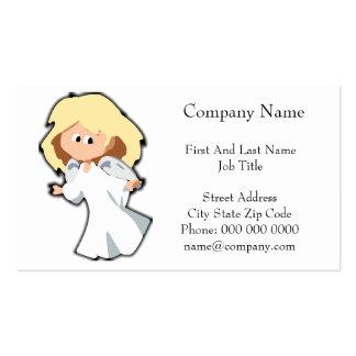 Dibujo animado rubio del navidad del ángel del beb tarjeta de visita