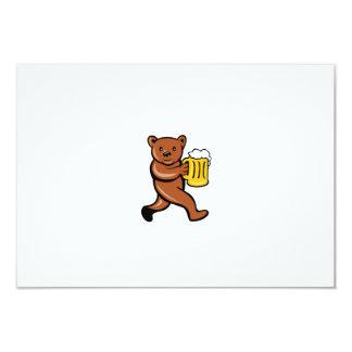 """Dibujo animado """"running side"""" de la taza de invitación 8,9 x 12,7 cm"""