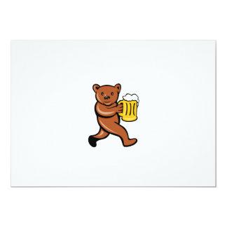 """Dibujo animado """"running side"""" de la taza de invitación 12,7 x 17,8 cm"""