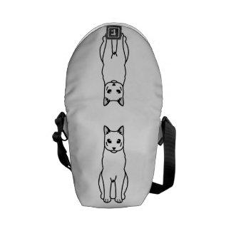 Dibujo animado ruso del gato azul bolsa de mensajeria