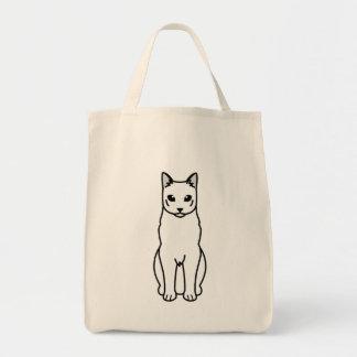 Dibujo animado ruso del gato azul bolsa