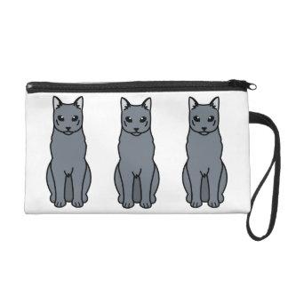 Dibujo animado ruso del gato azul