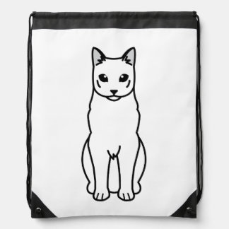 Dibujo animado ruso del gato azul mochilas