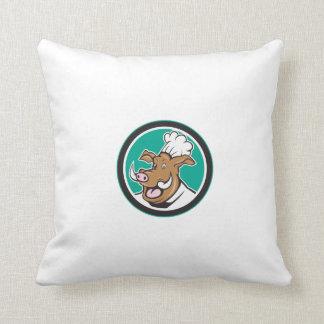 Dibujo animado salvaje del círculo de la cabeza almohadas