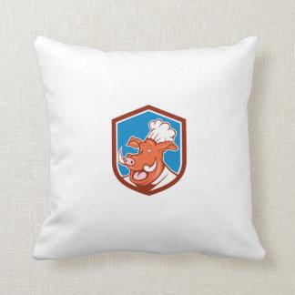 Dibujo animado salvaje del escudo de la cabeza del almohadas