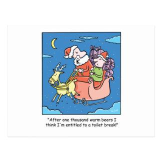 Dibujo animado Santa del navidad Tarjetas Postales
