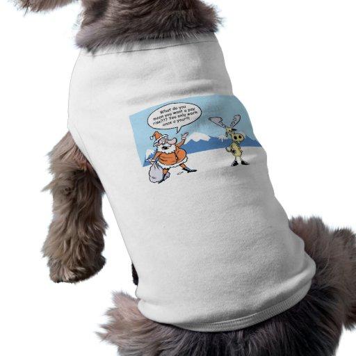 Dibujo animado Santa del navidad y el reno Playera Sin Mangas Para Perro