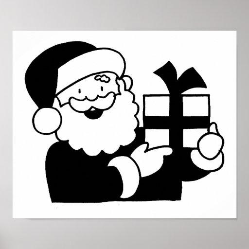 Dibujo animado Santa Póster