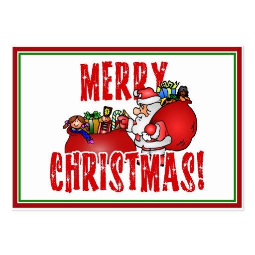 Dibujo animado Santa y bolsos de los juguetes del
