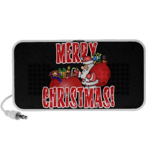 Dibujo animado Santa y bolsos de los juguetes del iPod Altavoz
