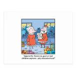Dibujo animado Santas del navidad buenos y mala li Tarjetas Postales