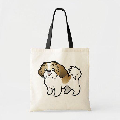 Dibujo animado Shih Tzu (perrito cortado) Bolsa Tela Barata