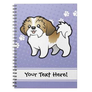 Dibujo animado Shih Tzu (perrito cortado) Libretas