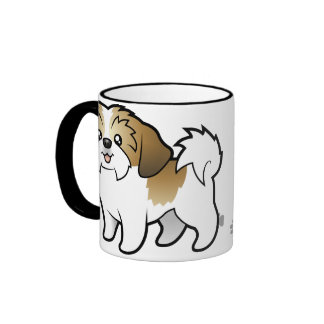 Dibujo animado Shih Tzu (perrito cortado) Taza