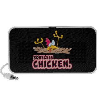 dibujo animado sin hueso divertido del pollo mini altavoces