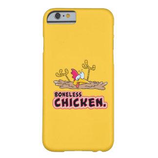 dibujo animado sin hueso divertido del pollo funda para iPhone 6 barely there
