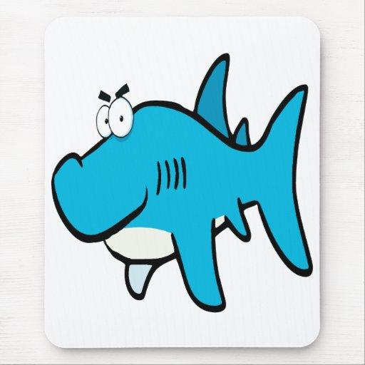 dibujo animado smirking del tiburón alfombrilla de ratones