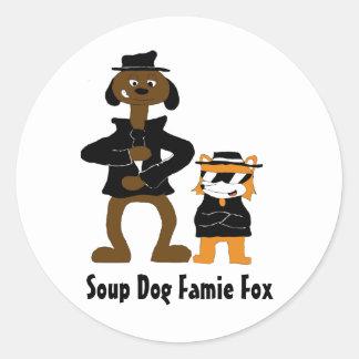 Dibujo animado Snoop Dogg y fans del Fox de Jamie Pegatina Redonda