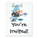 dibujo animado sofisticado divertido del toro anuncio