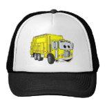 Dibujo animado sonriente amarillo del camión de ba gorro