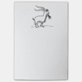 Dibujo animado sonriente lindo blanco y negro de post-it® notas