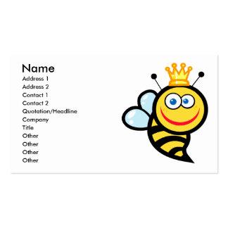 dibujo animado sonriente lindo tonto de la abeja tarjetas de visita