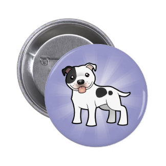 Dibujo animado Staffordshire bull terrier Pins