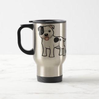 Dibujo animado Staffordshire bull terrier Taza De Café