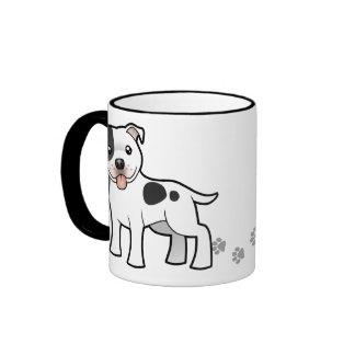 Dibujo animado Staffordshire bull terrier Tazas