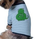 Dibujo animado T-Rex (verde) Ropa Perro