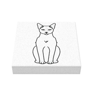 Dibujo animado tailandés del gato lienzo envuelto para galerias