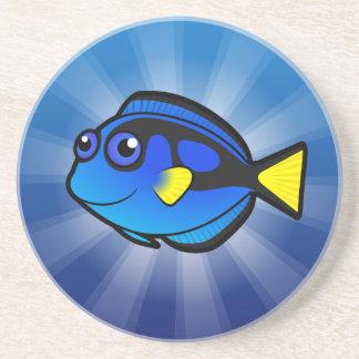 Dibujo animado Tang/Surgeonfish 2 Posavasos Manualidades