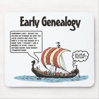 Dibujo animado temprano de la genealogía tapetes de ratón