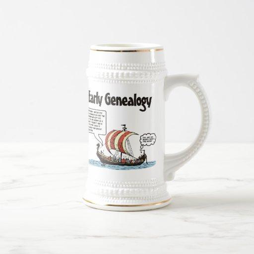 Dibujo animado temprano de la genealogía taza