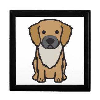 Dibujo animado tibetano del perro del perro de agu cajas de recuerdo