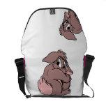 Dibujo animado tímido lindo del conejo de conejito bolsa de mensajeria